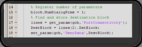 Block setup code