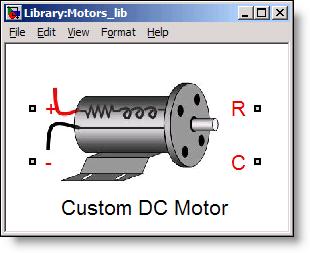 Simscape - Custom DC Motor library