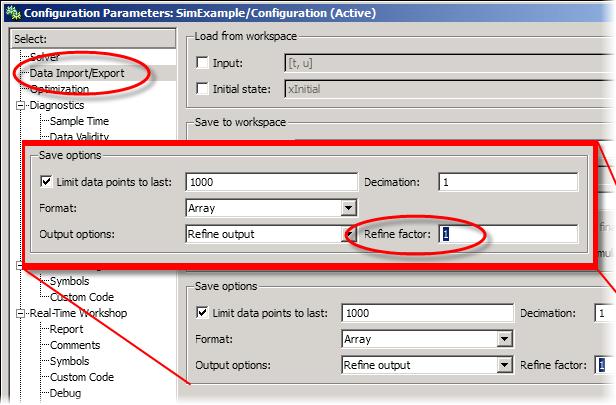 Configuration Parameters refine factor
