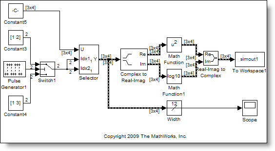 Variable sized signals in Simulink R2009b