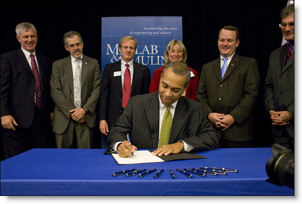 Governor Patrick signing the executive order to establish the STEM Advisory Council