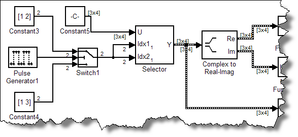 Variable size signals from the selector block