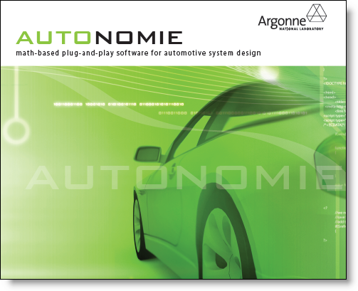 Autonomie Brochure from Argonne National Laboratory at the MathWorks Virtual Energy Conference