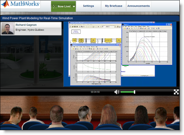 The Virtual Conference Hall at the MathWorks Energy Virtual Conference.