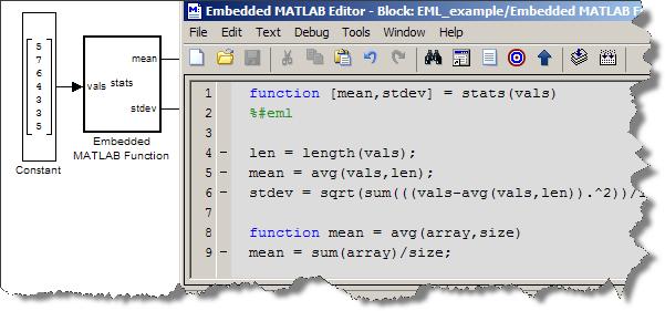 Embedded MATLAB Function block