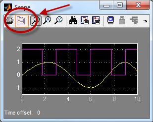 Simulink Scope parameters