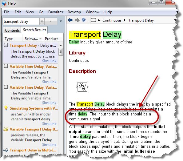 Transport Delay documentation