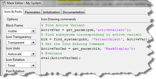 Icon Drawing Commands seen in the Mask Editor