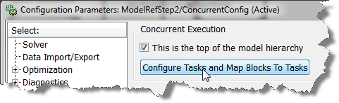 Opening the Concurrent configuration set