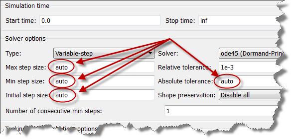 Simulink solver configuration