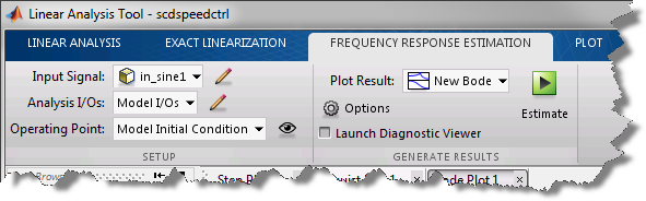 Frequency Response Estimation Tab
