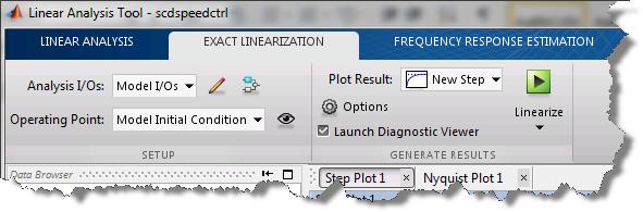 Exact Linearization tab