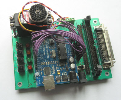 DC Motor connected to an Arduino board.