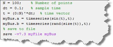 Creating bus data