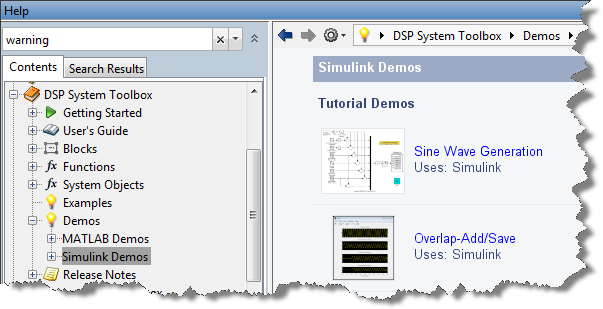 DSP System Toolbox Demos