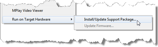 Installing the NXT support package