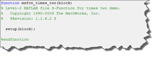 Times two s-function code