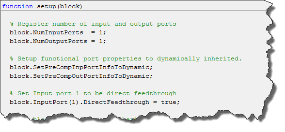 Setting properties of the block ports