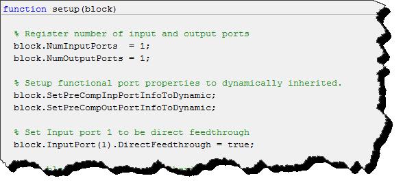Setting properties of the block ports