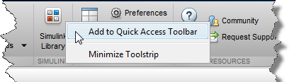 Adding to the Quick Access Toolbar