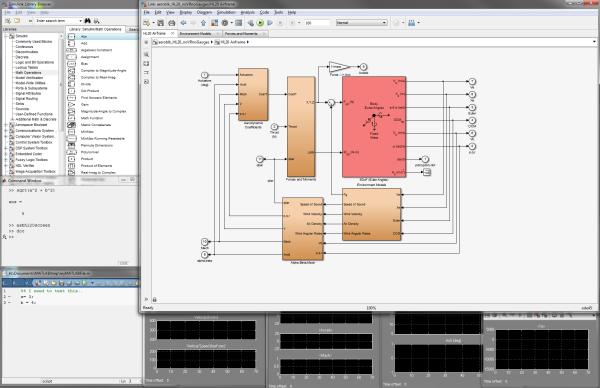 My desktop when developing Simulink models