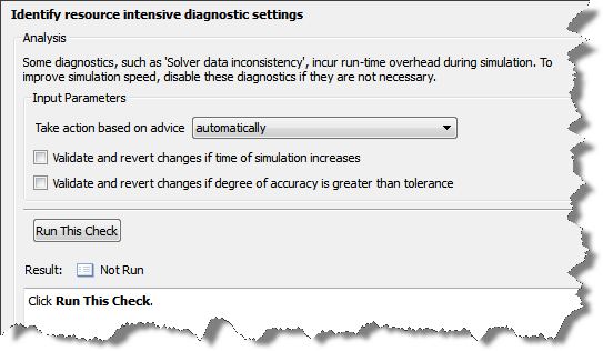 Performance Advisor Checks