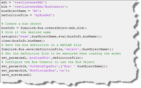Example script making the bus nonvirtual