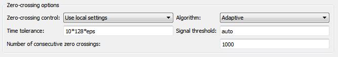 Adaptive zero-crossing detection