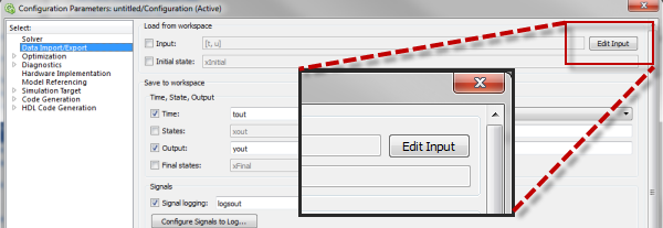 Launching the Root Inport Mapping dialog