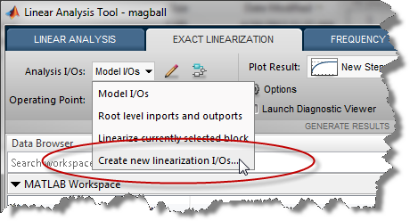 Create new linearization I/Os...