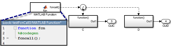 Using a Split to split function-call generated by the MATLAB Function block
