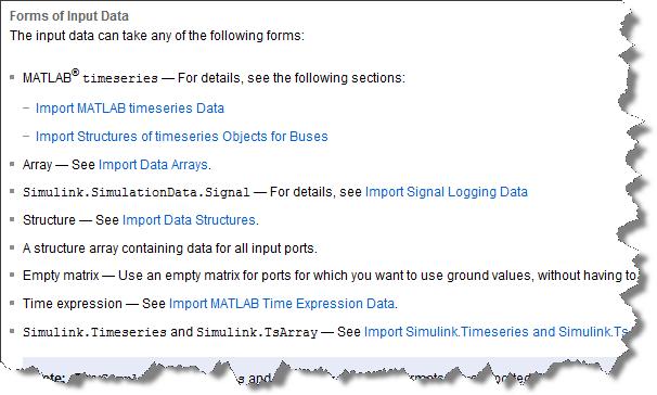 Multiple ways of importing signals through root-level inport blocks