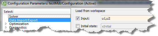 Input data specified using the Root Inport Mapping Dialog