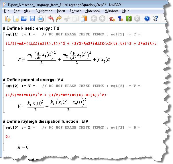 Defining energies