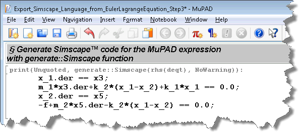 Generating Simscape language in MuPAD