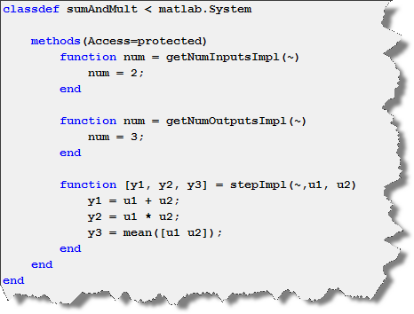 Example System Object with two inputs and three outputs