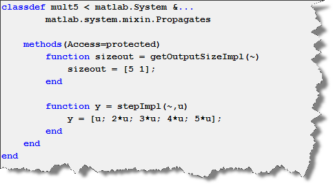 Example System Object with an output of dimension 5.