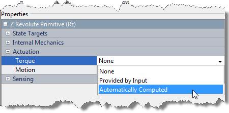Options for torque input