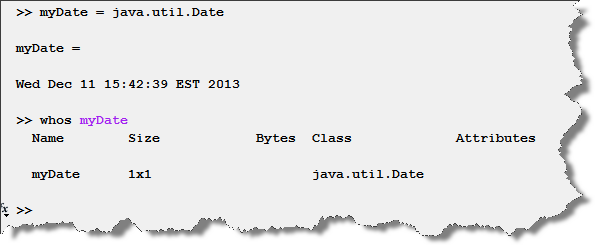 Creating a java object in MATLAB