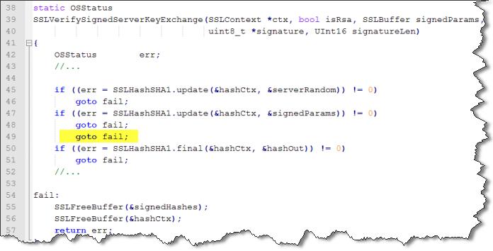 goto fail code