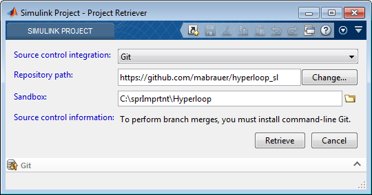 Project Retriever with link to public GitHub repository