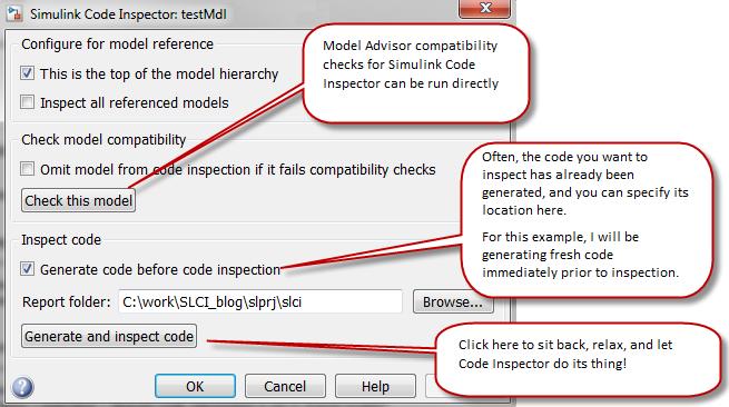 Code Inspector Dialog