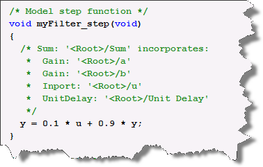 Generated Code for the Step Function