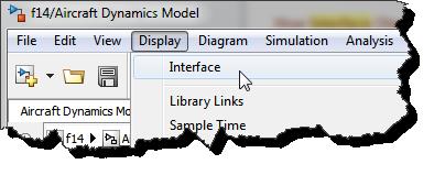 Interface Display Menu
