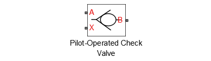 SimHydraulics Pilot-Operated Check Valve