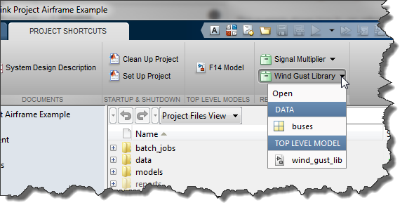 Referenced Simulink Projects