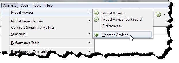 Opening the model advisor