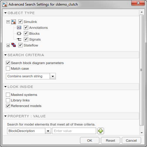 Advanced Search Settings