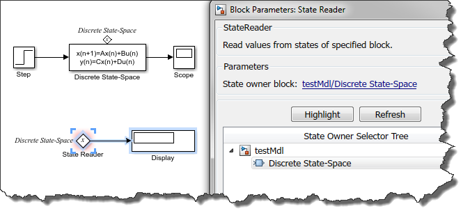 Selecting block to be read by the State REader block