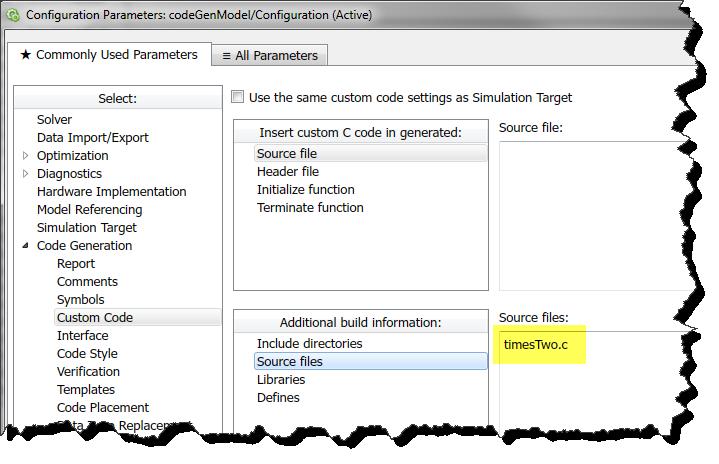 Custom Code Configuration
